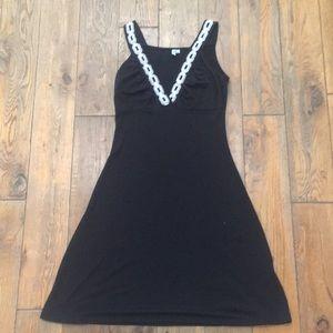 LUCY LOVE Women's Black Dress Summer Beach Sz M